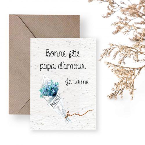 carte à planter - bonne fête papas - fête des peres