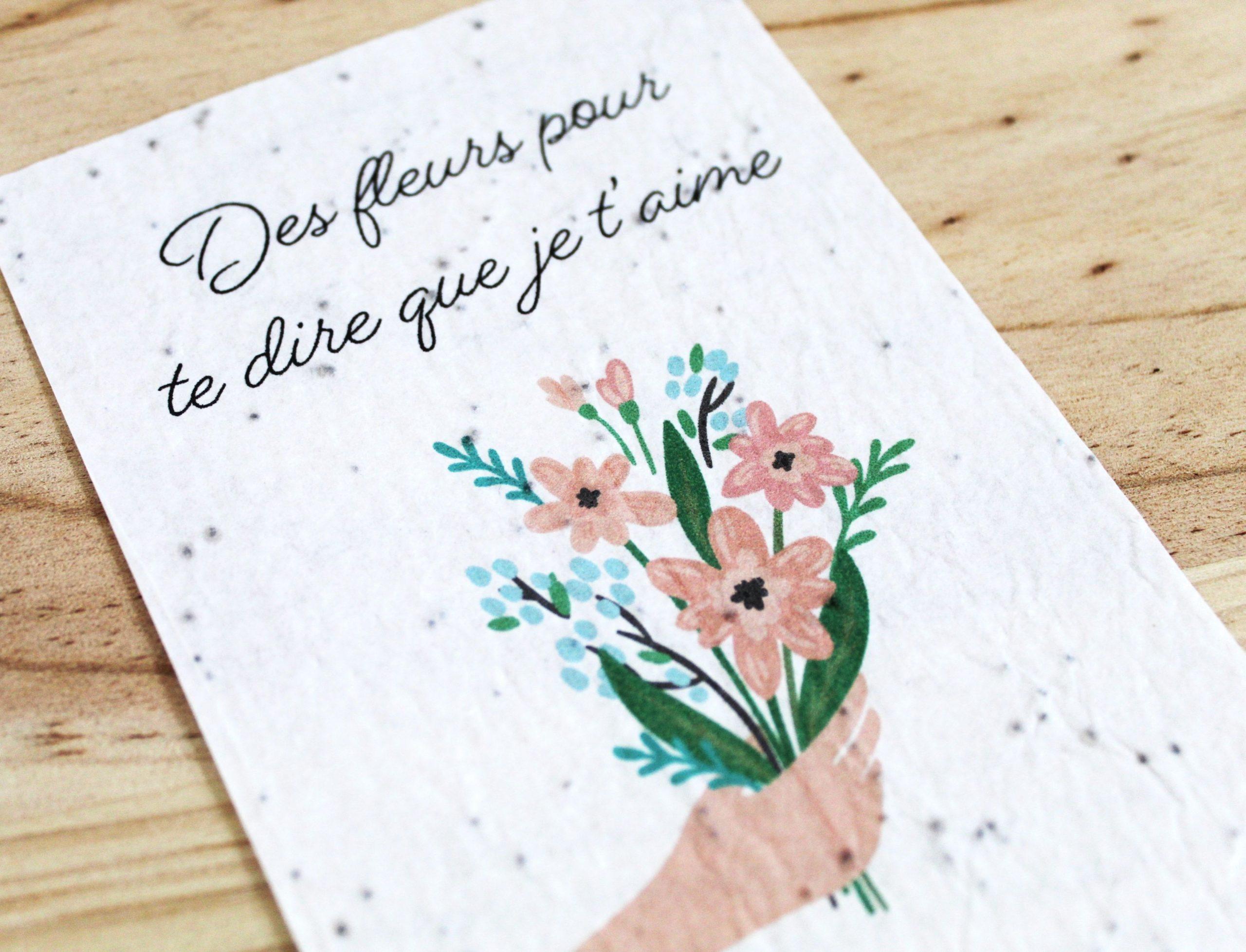 Carte a planter pour te dire que je t'aime