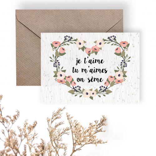 Carte à planter - je t'aime