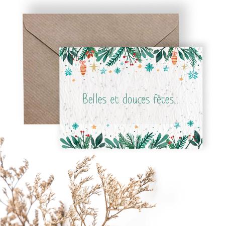 Carte à planter belles et douces fêtes