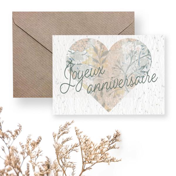 joyeux anniversaire - carte à planter
